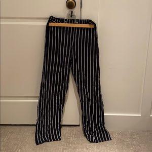 Blue striped Brandy Melville pants